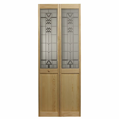 AWC 147 Sedona Glass 24-inch x 80.5-inch Unfinished Bifold Door