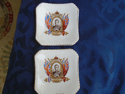 King Edward VIII pin dishes (two)