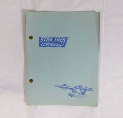 Star Trek Concordance People, Places, and Things Dorothy Jones 1969 SD 0369.5