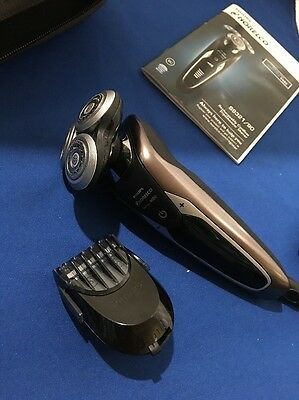 Philips Norelco S9321 Series 9000 Shaver + Trimmer Case And Charger