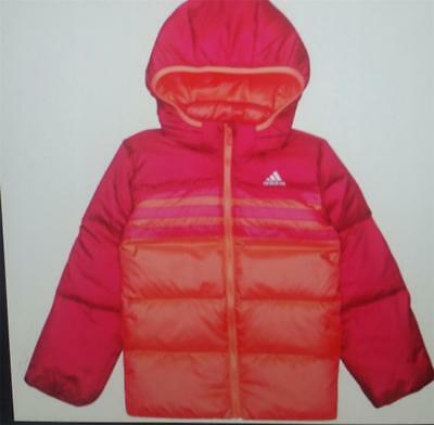 Adidas girls infant junior down jacket coat ab4681 new pink mix age 3-4 to 9-10