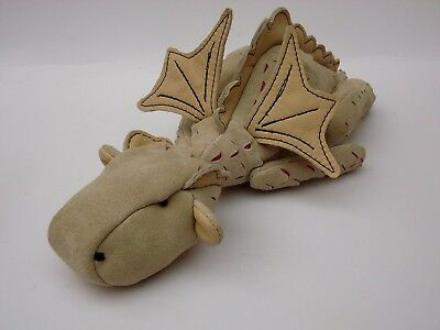 Collectors Dragon, Real suede and leather, glass eyes, cotter pin joints