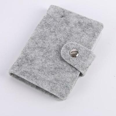 Small Card Holder Case Business Card ID Card Button Lock Storage Case Gray Color