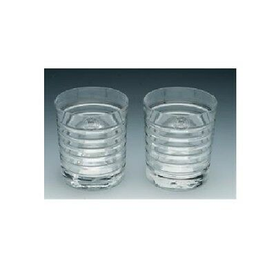 Ralph Lauren Fine Crystal Metropolis Pair of Double Old Fashioned Glasses NEW