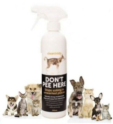 Dog & Cat Training Don't Pee Here Stop Soiling Urinating Deterrent Spray 500ml