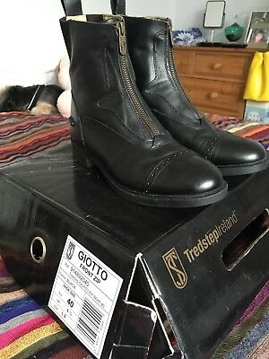 Tredstep black leather Giotto Riding Boots Size 6.5/40