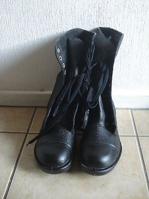 1 Pair new, British Army, Boots   (good for festivals) Size 8  or size 6 no box