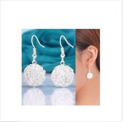 wholesale Fine Jewelry Solid 925Silver Fashion beautiful reticle Earrings