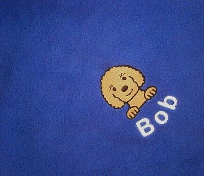 CAVAPOO Personalised Embroidered Fleece Pet Blanket - 16 Colours to Choose