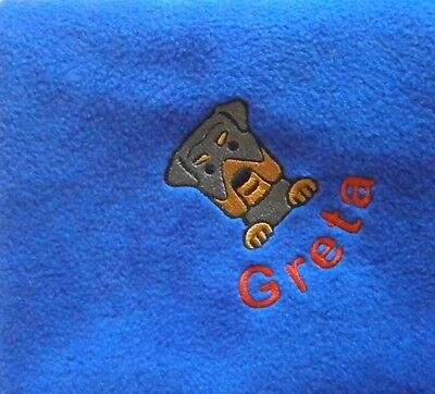 ROTTWEILER Personalised Embroidered Fleece Pet Blanket - 16 Colours to Choose