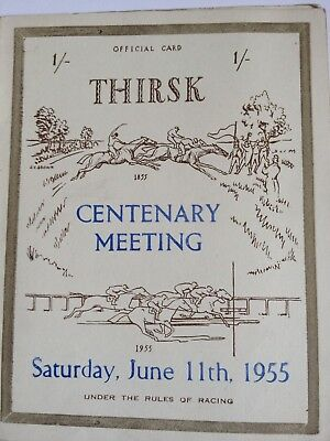 1955 Thirsk Race Card