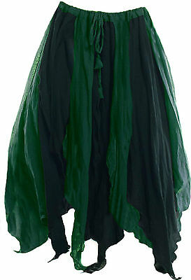 RENAISSANCE MEDIEVAL COSTUME BELLY DANCE TINKERBELL FAIRY WENCH PETAL SKIRT Ps16