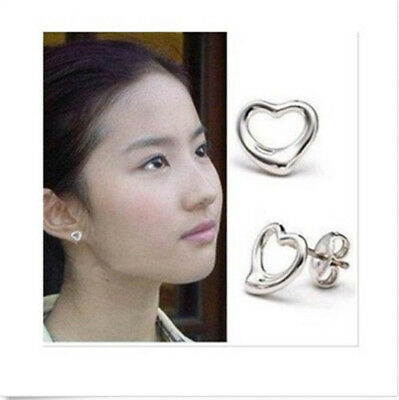wholesale Fine Jewelry Solid 925Silver Fashion beautiful loving heart  Earrings