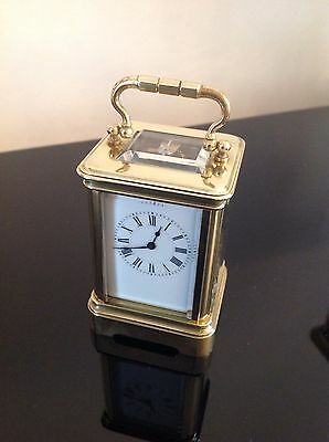 Henri Jacot Miniature Antique carriage clock With Its Original Numbered Case