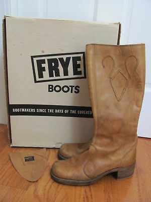 VTG 1970s *ROCK GROUPIE FRYE Leather CAMPUS BOOTS Sz-9 in Orig Box*  $39.99