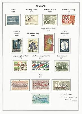 Denmark Collection 1935-1976 on 22 Pages, Neatly Mounted, SCV $120