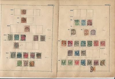 Denmark Collection 1853 to 1926 on 6 Pages, SCV $283