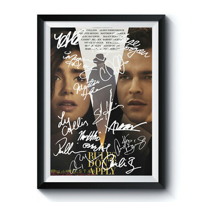 RULES DON'T APPLY Casts Autograph Poster Reprint Movie Art Home Wall Deco Gift