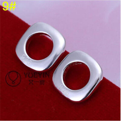 wholesale Fine Jewelry Solid 925Silver Fashion beautiful square  Earrings