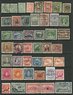 El Salvador selection of 65 used stamps. Mixed condition in places