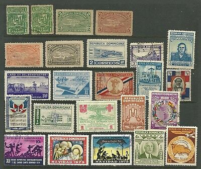 Dominican Republic selection of 24 used stamps. Mixed condition in places