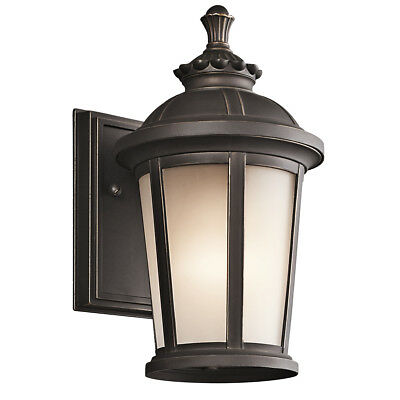"Kichler Ralston 1-Light 10.5"" Small Outdoor Wall in Rubbed Bronze"