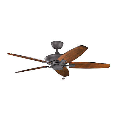 "Kichler Canfield 52"" Ceiling Fan in Distressed Black"