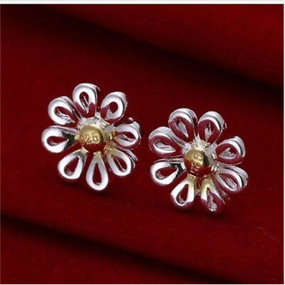 wholesale Fine Jewelry Solid 925Silver Fashion beautiful chrysanthemum Earrings