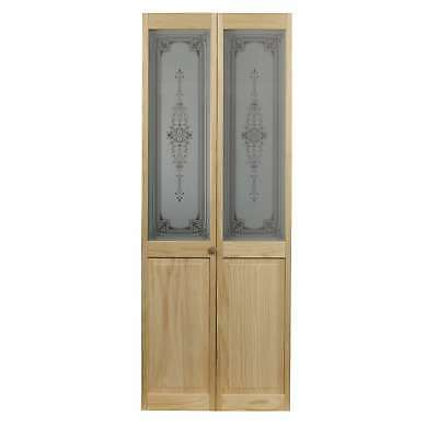 AWC 347 Heywood Glass 30-inch x 80.5-inch Unfinished Bifold Door