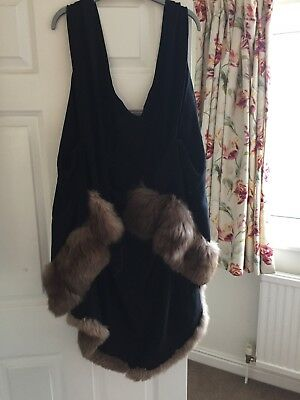 Vintage Handmade Fur Trimmed Cape 1940s/1950s, Hollywood Film Star