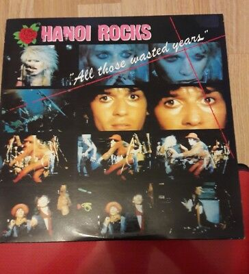 HANOI ROCKS, ALL THOSE WASTED YEARS. ORIGINAL 2xLP, P/S. LICK, GLAM ROCK.