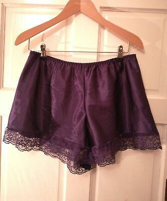 French knickers purple satin lace drag waist 31-42 inspired L- XL Halloween