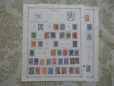 Finland Old Collection 1875-1939 Extra Fine On Pages Dr Schultz Estate !!8917F