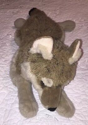 "FAO SCHWARZ Wolf Timber Grey Plush Stuffed 27"" Large Lifelike Realistic RARE HTF"