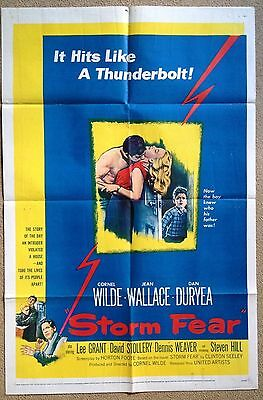 STORM FEAR (1955) Rare Original US One Sheet Movie Poster Jean Wallace