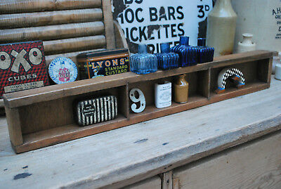 vintage pine box collectors pigeon hole display