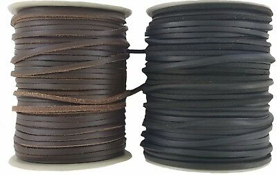 Black or Brown leather cord lace 3 mm Square