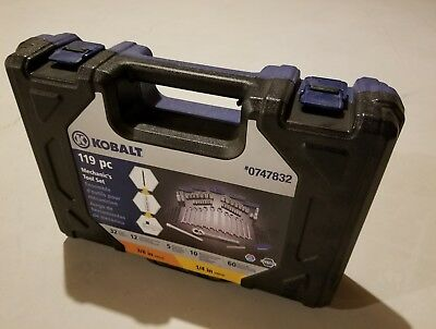 Kobalt 119-Piece Standard SAE and Metric Mechanics Tool Set with Hard Case Kit