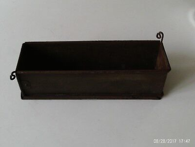 Antique/vintage French metal cake/pate/ pie mould, hinged