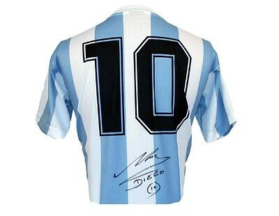 Diego Maradona signed / autographed World Cup 86 Argentina Shirt jersey PROOF