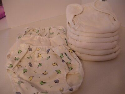Mother-Ease Diaper & Covers Lot - 6 Diapers & 3 Covers - b9