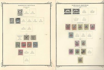 Dominican Republic Collection 1905-1942 on 20 Scott Specialty Pages