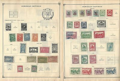 Dominican Republic Collection 1879-1962 on 30 Scott International Pages