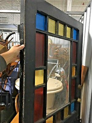 Antique Queen Anne Stained Glass Front Door Victorian Architectural House Arts &