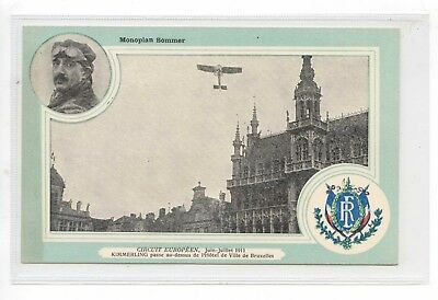 French Aviation Pc - Europeen Circuit 1911 Kimmerling Over Paris