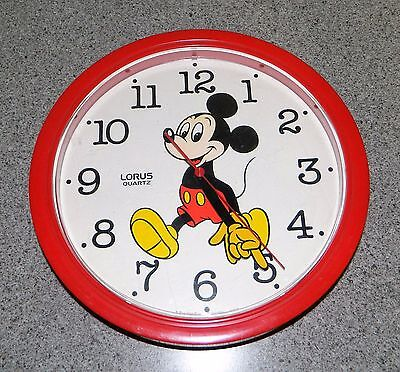 Lorus Quartz - Red Mickey Mouse Clock - 10 1/4""