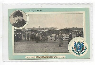 French Aviation Pc - Europeen Circuit 1911 Beaumont About To Depart