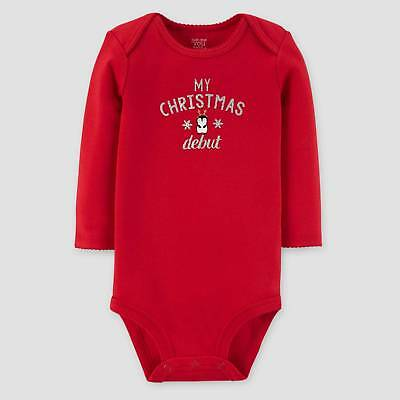 Baby Girls' Long Sleeve My Christmas Debut Bodysuit - Just One You™ Made...