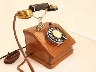 FRENCH  1920s BUREAU TELEPHONE refurbished fully functional VERY RARE INDEED