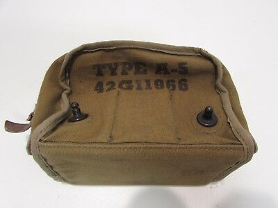 WWII US Army aircraft type A-5 flare round holder empty.  Ia